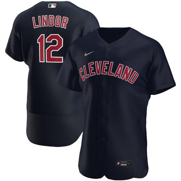 MLB フランシスコ・リンドール インディアンス ユニフォーム/ジャージ オルタネート 2020 オーセンティック ナイキ/Nike ネイビー