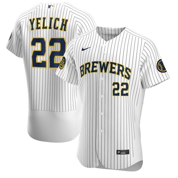 MLB クリスチャン・イエリッチ ブリュワーズ ユニフォーム/ジャージ オルタネート 2020 オーセンティック ナイキ/Nike ホワイト