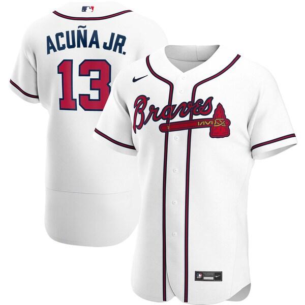 MLB ロナルド・アクーニャ・ジュニア ブレーブス ユニフォーム/ジャージ ホーム 2020 オーセンティック ナイキ/Nike ホワイト