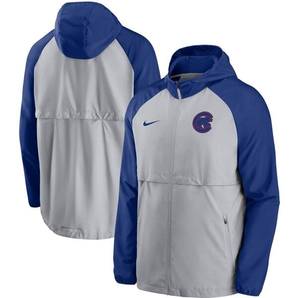 MLB シカゴ・カブス ジャケット/アウター メッシュ ロゴ エッセンシャル フルジップ フーディー ナイキ/Nike グレー