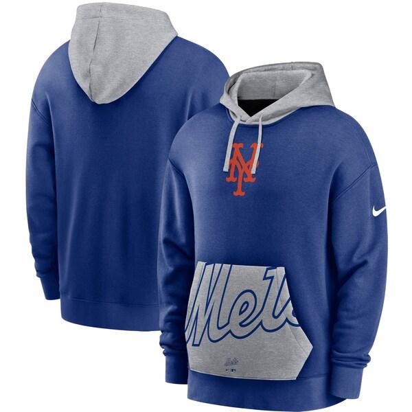 MLB ニューヨーク・メッツ パーカー/フーディー ヘリテージ トライブレンド プルオーバー ナイキ/Nike ロイヤル/グレー