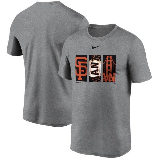 MLB サンフランシスコ・ジャイアンツ Tシャツ トリプティック ロゴ レジェンド パフォーマンス ナイキ/Nike グレー