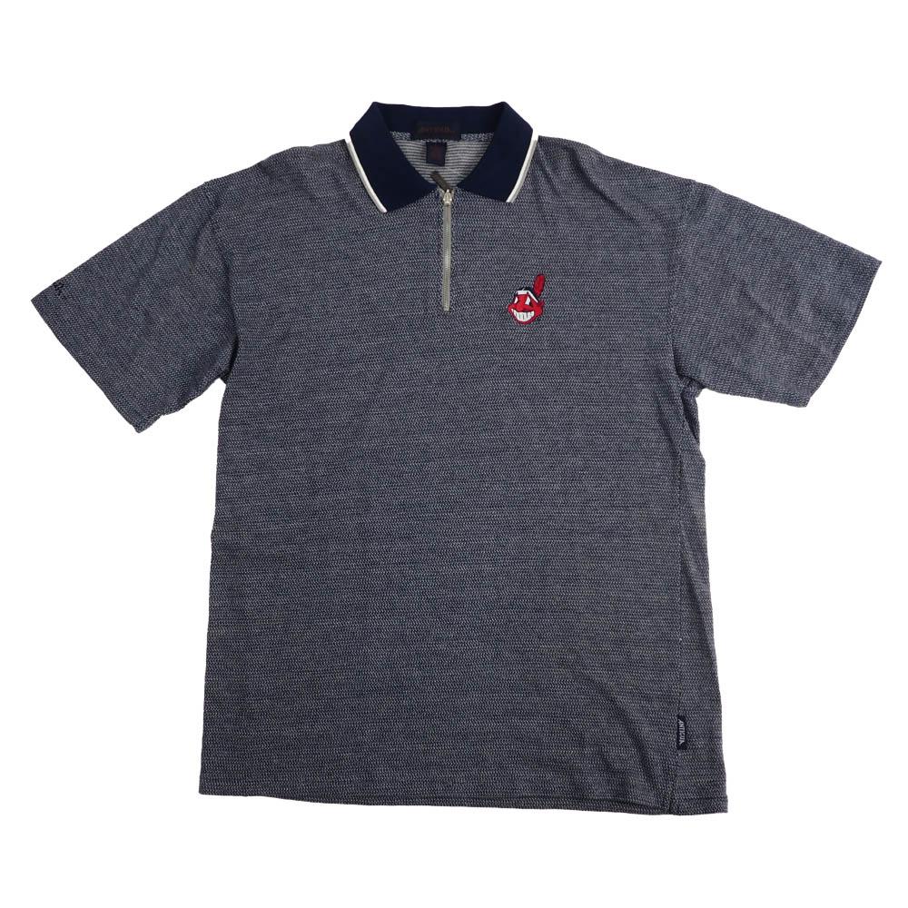 MLB クリーブランド・インディアンス Cotton Polo Shirt Antigua ネイビー