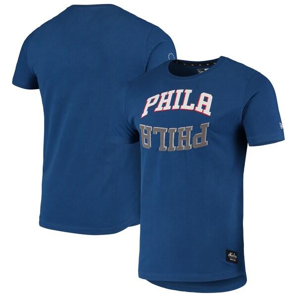 NBA フィラデルフィア・76ers Tシャツ ジャージ ワードマーク リフレクション アップリケ ニューエラ/New Era ロイヤル