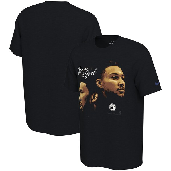 NBA ジョエル・エンビード/ベン・シモンズ フィラデルフィア・76ers Tシャツ ダイナミック デュオ ナイキ/Nike ブラック