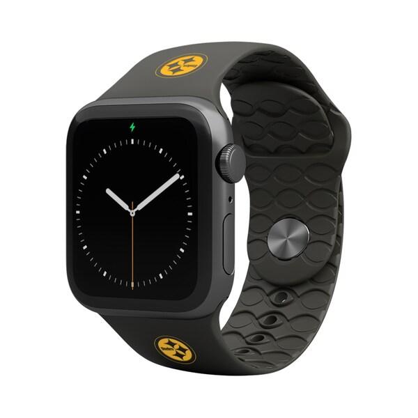 NFL スティーラーズ 42-44mm Apple Watch Band アップルウォッチ バンド Groove Life ブラック
