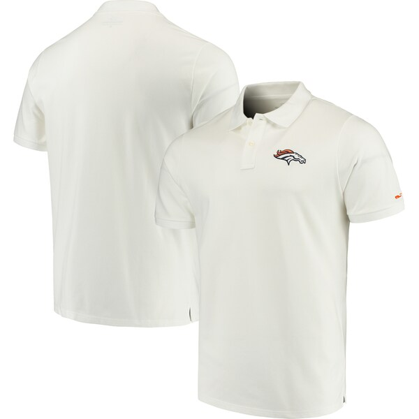 NFL ブロンコス Stretch Pique Polo ポロシャツ Vineyard Vines ホワイト