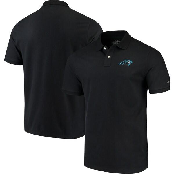 NFL パンサーズ Stretch Pique Polo ポロシャツ Vineyard Vines ブラック