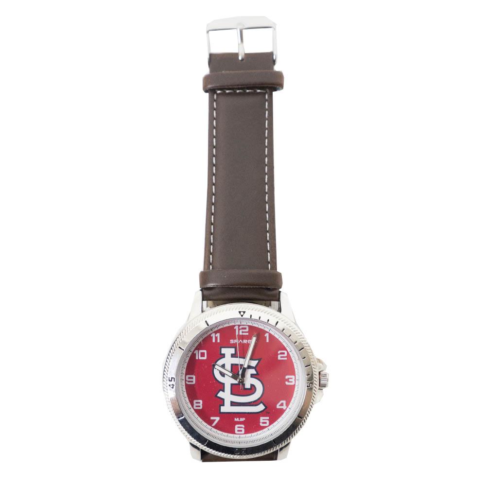 あす楽対応 MLBチーム 大人気 レザー調ベルトウォッチ MLB セントルイス カージナルス レザーバンド チームロゴ ウォッチ オンライン限定商品 Sparo 腕時計