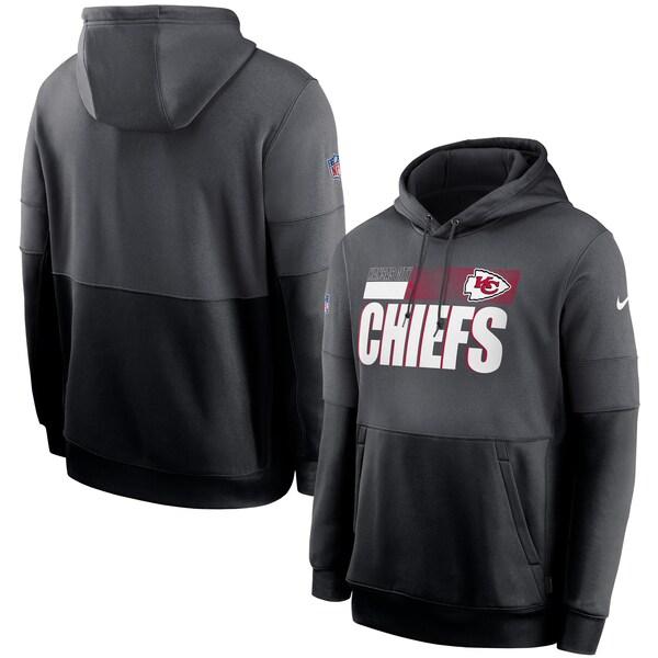 NFL チーフス パーカー/フーディー 選手着用 サイドライン インパクトロックアップ プルオーバー ナイキ/Nike Charcoal/Black
