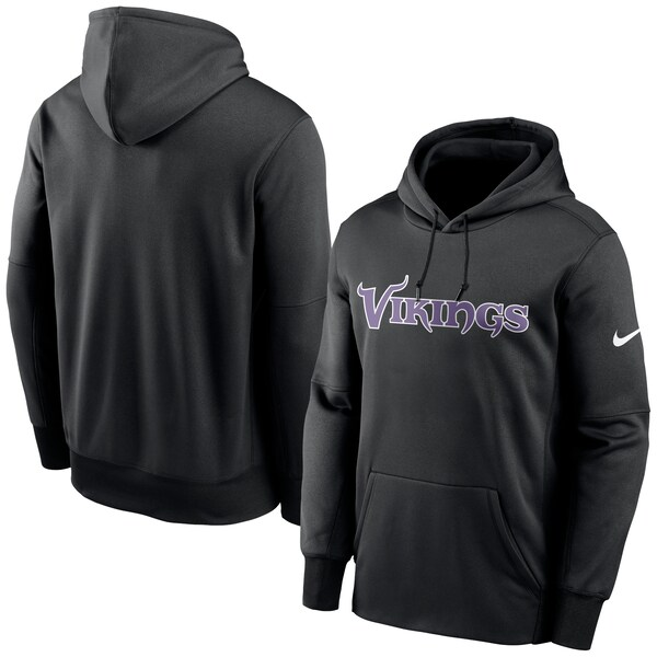 NFL バイキングス パーカー/フーディー Wordmark Therma Pullover Hoodie ナイキ/Nike ブラック NKAQ-CMB