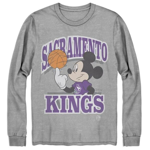 NBA サクラメント・キングス Tシャツ ディズニー ミッキーマウス Disney Mickey Team Spirit Long Sleeve T-Shirt Junk Food グレー