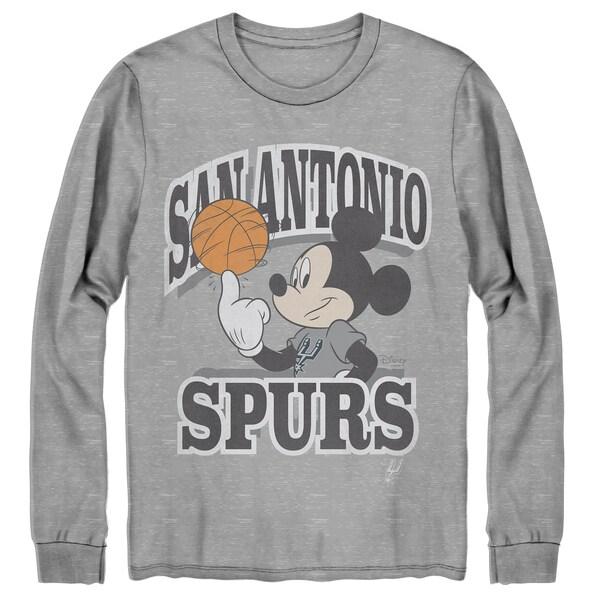 NBA サンアントニオ・スパーズ Tシャツ ディズニー ミッキーマウス Disney Mickey Team Spirit Long Sleeve T-Shirt Junk Food グレー
