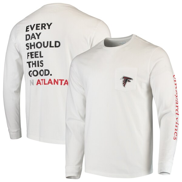 NFL ファルコンズ Tシャツ Every Day Should Feel This Good T-Shirt Vineyard Vines ホワイト