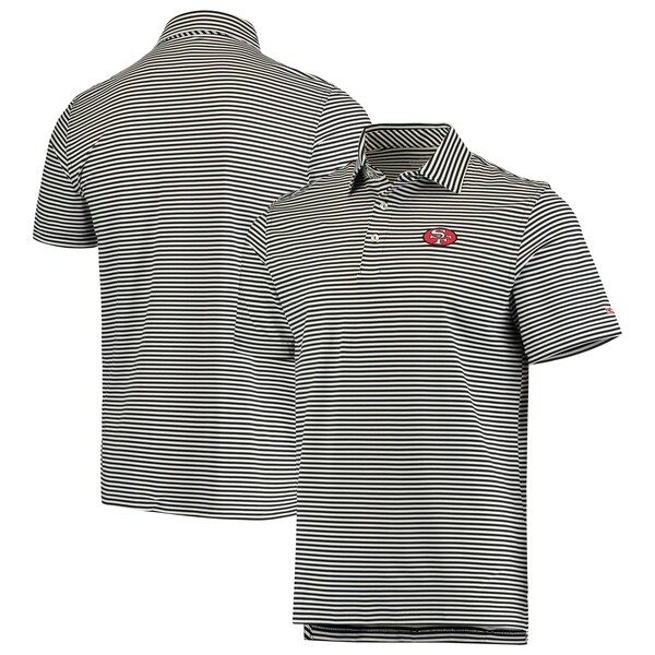 NFL 49ers ポロシャツ Winstead Stripe Throwback Polo Vineyard Vines ブラック