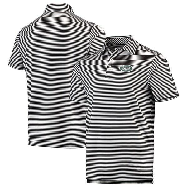 NFL ジェッツ ポロシャツ Winstead Striped Polo Vineyard Vines ブラック