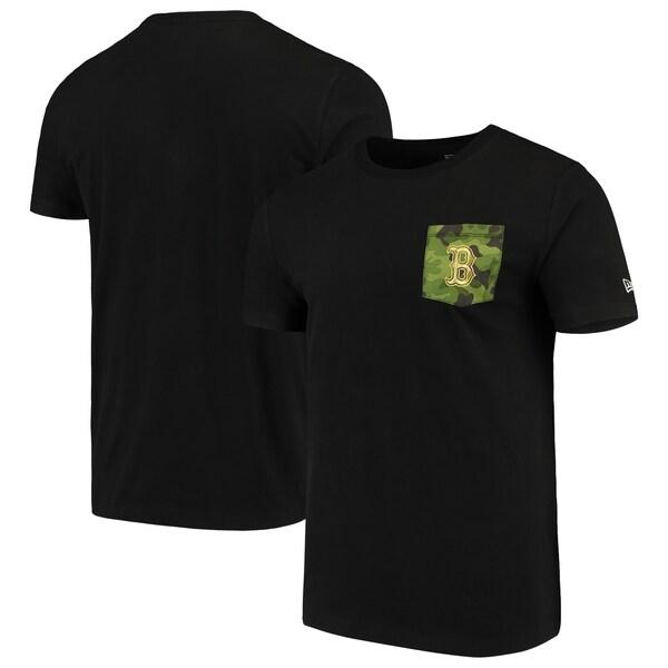 MLB ボストン・レッドソックス Tシャツ Armed Special Forces Camo Pocket T-Shirt ニューエラ/New Era ブラック