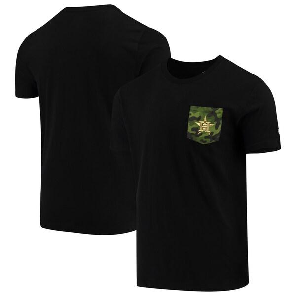 MLB ヒューストン・アストロズ Tシャツ Armed Special Forces Camo Pocket T-Shirt ニューエラ/New Era ブラック