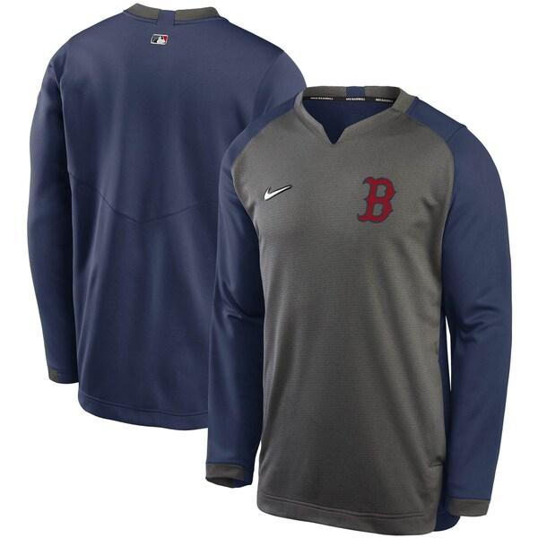 MLB ボストン・レッドソックス スウェットシャツ/トレーナー Authentic Collection Thermal Crew ナイキ/Nike グレー/ネイビー