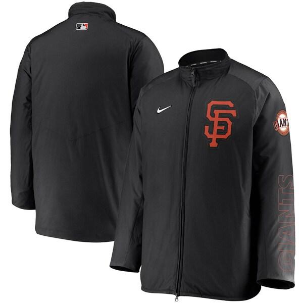 MLB サンフランシスコ・ジャイアンツ ジャケット/アウター Authentic Collection Team Dugout Full-Zip Jacket ナイキ/Nike ブラック