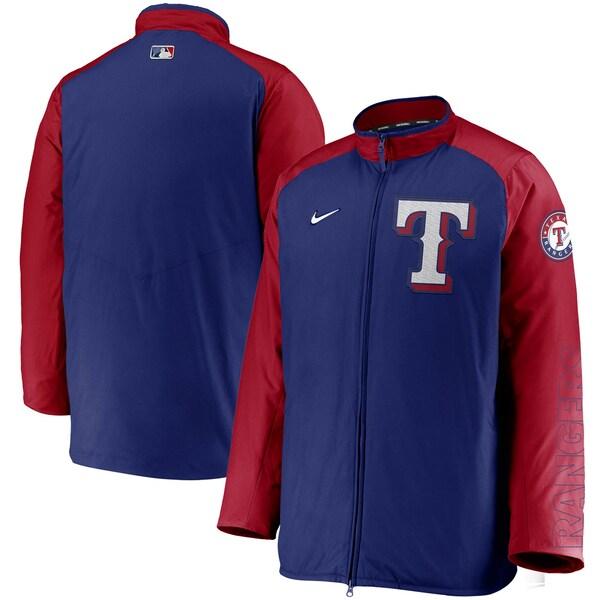 MLB テキサス・レンジャーズ ジャケット/アウター Authentic Collection Dugout Full-Zip Jacket ナイキ/Nike ロイヤル/レッド