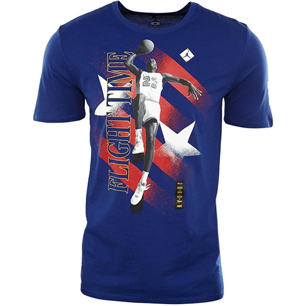 ジョーダン Tシャツ 半袖 JORDAN Tシャツ ロイヤルブルー レッド ホワイト 青 赤 白 Jordan Flight Time Olympic T-Shirt