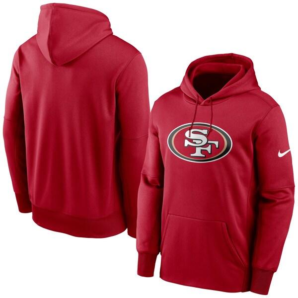 NFL 49ers パーカー/フーディー プライマリーロゴ プルオーバー ナイキ/Nike レッド