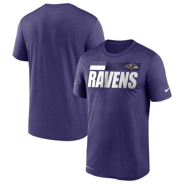 NFL レイブンズ Tシャツ サイドライン 選手着用 インパクト ナイキ/Nike パープル