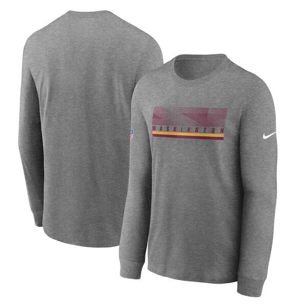 NFL ワシントン・フットボールチーム Tシャツ サイドライン 選手着用 インパクト ロングスリーブ ナイキ/Nike チャコール