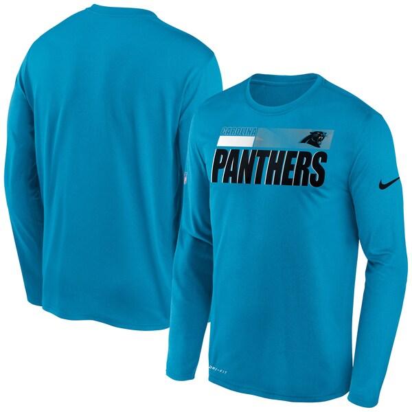 NFL パンサーズ Tシャツ サイドライン 選手着用 インパクト ロングスリーブ ナイキ/Nike ブルー