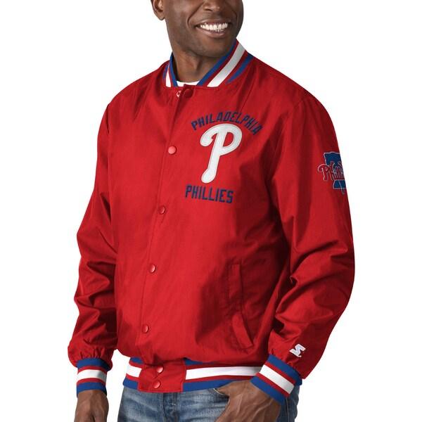 フィリーズ スタジャン MLB スターター レッド Starter ジャケット アウター フィラデルフィア