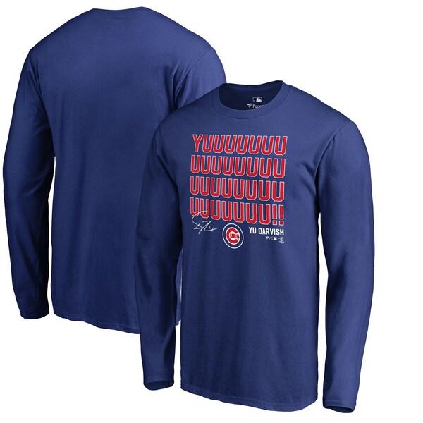 ダルビッシュ有 Tシャツ tシャツ カブス MLB ロイヤル ブルー 長袖 ロング ロンt ロンT シカゴ