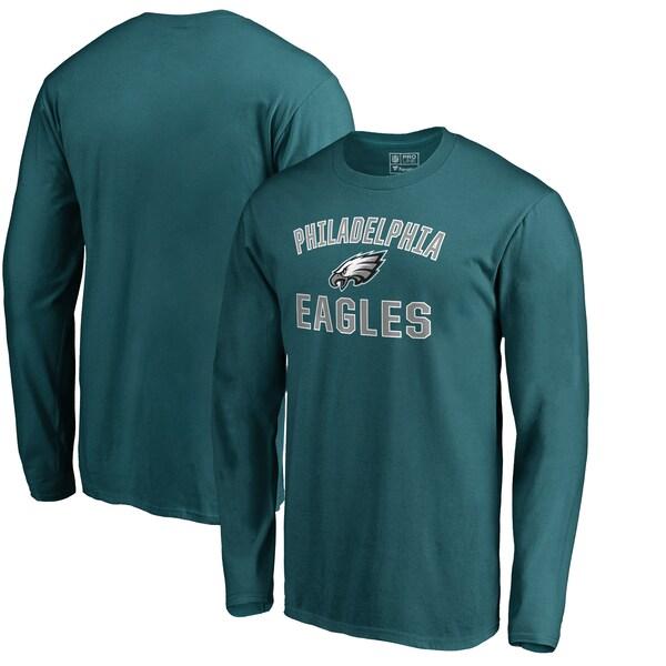 イーグルス Tシャツ NFL 長袖 メンズ カットソー ミッドナイトグリーン フィラデルフィア