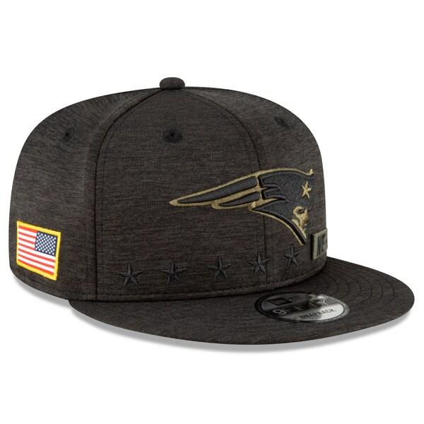 NFL キャップ 帽子 ペイトリオッツ ニューエラ New Era 9FIFTY 2020 サルートトゥサービス アジャスタブル スナップバック ブラック