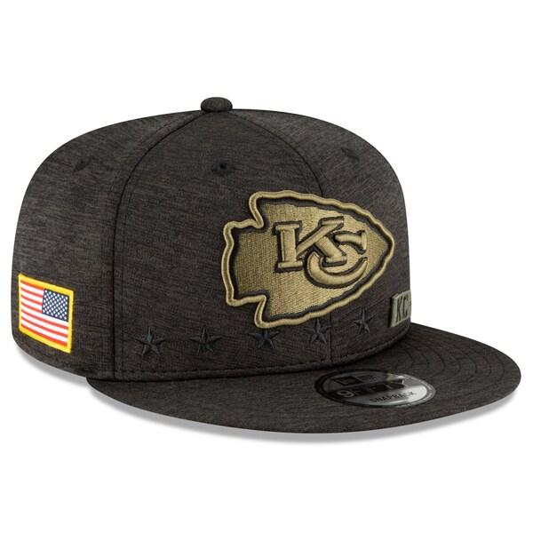 NFL キャップ 帽子 チーフス ニューエラ New Era 9FIFTY 2020 サルートトゥサービス アジャスタブル スナップバック ブラック