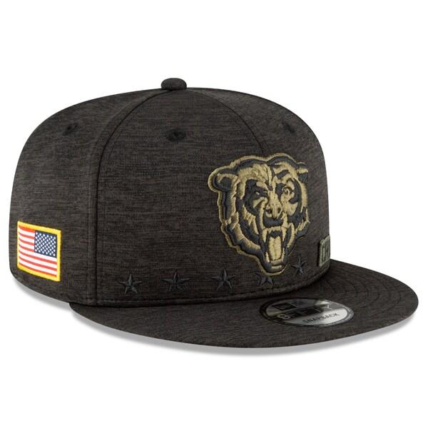 NFL キャップ 帽子 ベアーズ ニューエラ New Era 9FIFTY 2020 サルートトゥサービス アジャスタブル スナップバック ブラック