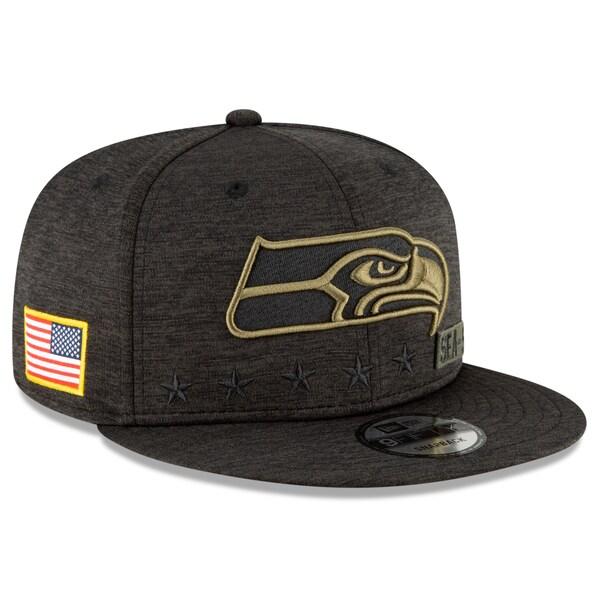 NFL キャップ 帽子 シーホークス ニューエラ New Era 9FIFTY 2020 サルートトゥサービス アジャスタブル スナップバック ブラック