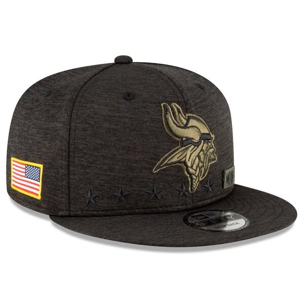 NFL キャップ 帽子 バイキングス ニューエラ New Era 9FIFTY 2020 サルートトゥサービス アジャスタブル スナップバック ブラック
