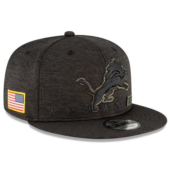 NFL キャップ 帽子 ライオンズ ニューエラ New Era 9FIFTY 2020 サルートトゥサービス アジャスタブル スナップバック ブラック