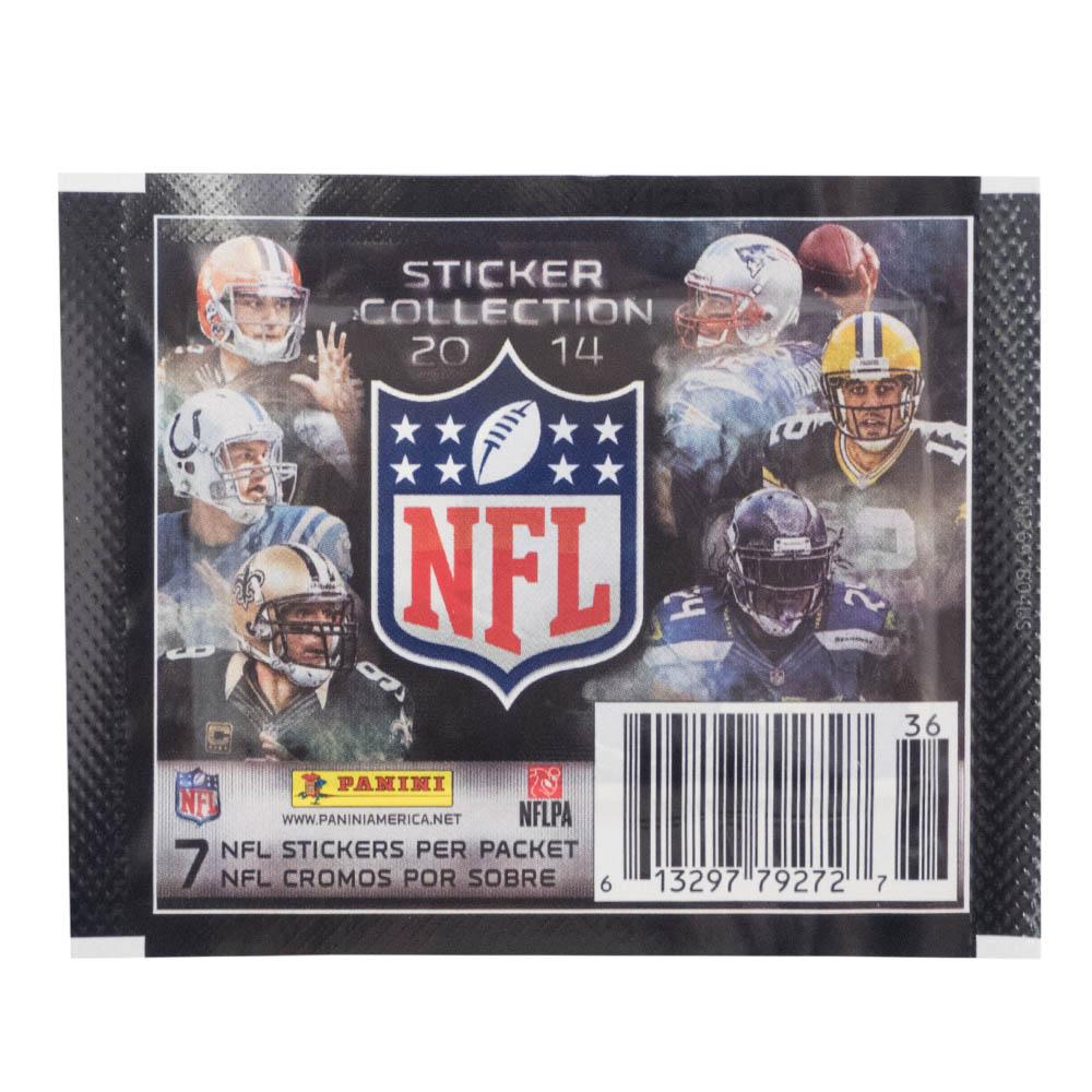 あす楽対応 コレクター要チェック NFL2014 15ステッカーコレクション お歳暮 NFL 上質 グッズ ステッカー 10 2014-15 ステッカー7枚入り1パック 10パックセット x PANINI