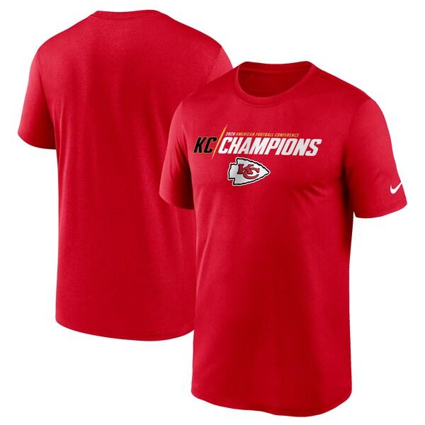 2020AFCカンファレンス優勝記念アイテム NFL Tシャツ チーフス 2020AFC優勝記念 ナイキ Nike 2020モデル メンズ 半袖 レッド SB55 信頼 tシャツ Iconic