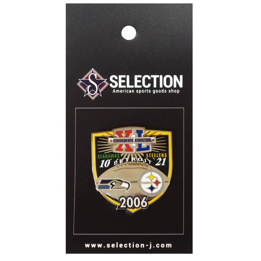 あす楽対応 第40回スーパーボウル オーバーのアイテム取扱☆ 激安卸販売新品 マッチアップピンバッチ NFL ピンバッチ スティーラーズ マッチアップピンズ Super XL Bowl PeterDavid