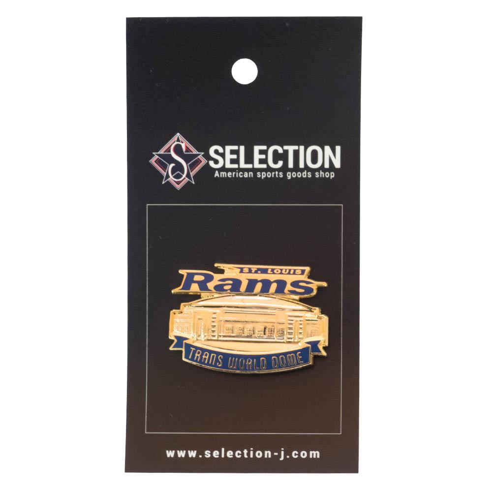 あす楽対応 日本メーカー新品 ホームスタジアムデザインピンバッジ 70%OFFアウトレット NFL グッズ ピンバッジ Stadium ラムズ Team ピンズ Pin