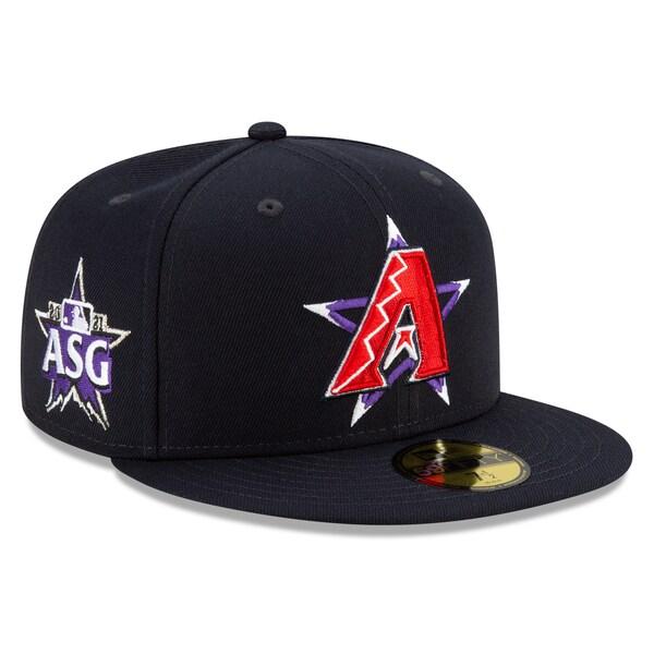 2021 MLBオールスターゲーム 選手着用モデル 59FIFTY CAP MLB ダイヤモンドバックス キャップ All-Star 正規認証品 新規格 New ニューエラ オールスターゲーム2021 Game 開催中 Era オンフィールド Fitted