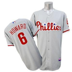 【リニューアル記念メガセール】MLB フィリーズ ライアン・ハワード ユニフォーム ロード マジェスティック Authentic Player ユニフォーム