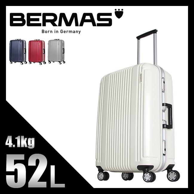 【5時間限定!NASA宇宙開発技術キーリリース贈呈!11/18(日)19:00~】バーマス スーツケース Mサイズ 軽量 フレームタイプ HINOMOTO キャスター プレステージ2 60265