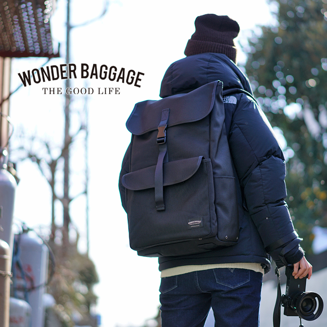 【カード28倍|5/30限定】【着後レビューでペンケース】ワンダーバゲージ グッドマンズ リュック メンズ WONDER BAGGAGE wb-g-018