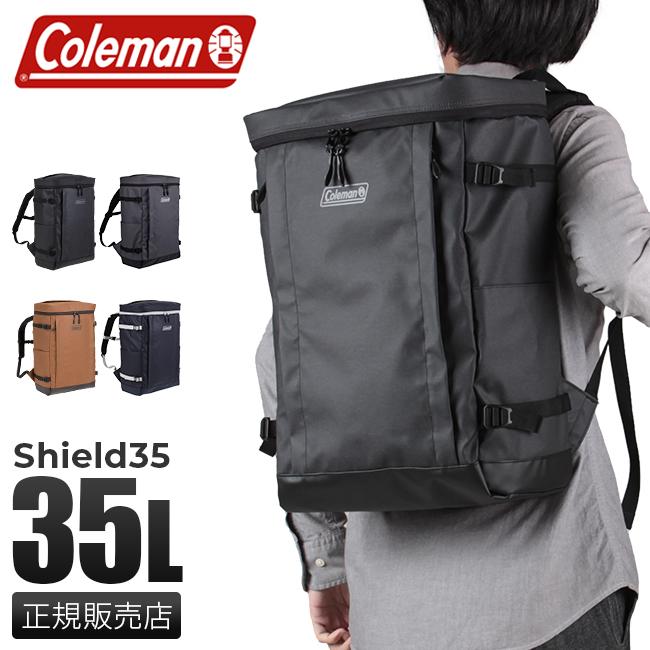 【カード28倍|5/30限定】コールマン リュック 35L メンズ スクエア ボックス シールド35 防水 撥水 大容量 Coleman SHIELD35