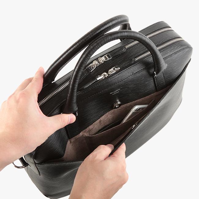 【楽天カードP23倍|8/20(火)限定】ペッレモルビダ キャピターノ ブリーフケース ビジネスバッグ 型押しレザー 革 メンズ B4 PELLE MORBIDA ca202