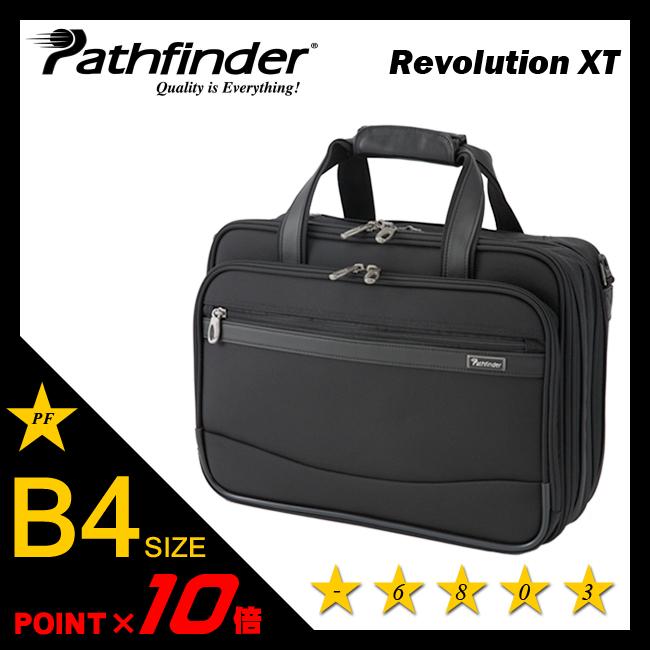 【まもなく終了!会員ランク+D4倍/P3倍/G2倍】パスファインダー レボリューションXT ビジネスバッグ B4 拡張機能 エキスパンダブル ブリーフケース メンズ PATHFINDER PF6803B